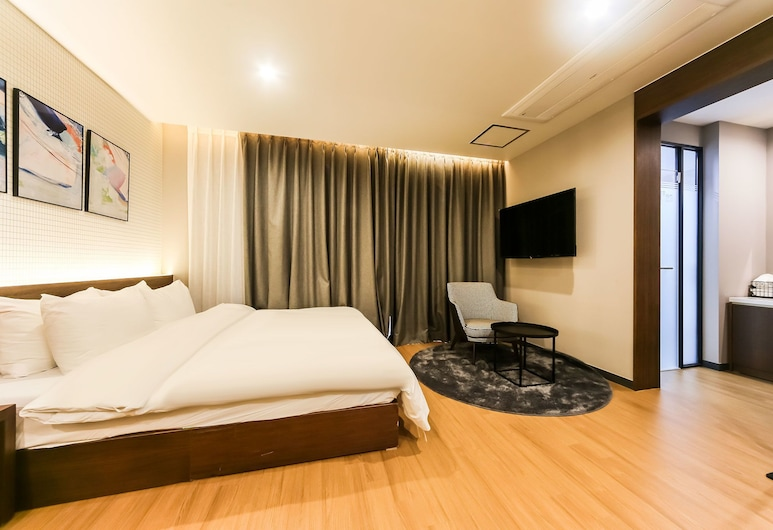 NO.25 Hotel Convention Changwon, Changwon, Studio-suite - 1 queensize-seng, Værelse