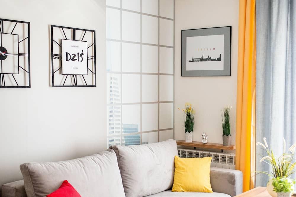 Deluxe-Apartment, Parkblick - Wohnzimmer