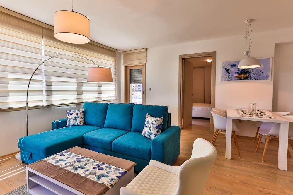 패밀리 아파트, 침실 2개, 바다 전망 - 거실 공간