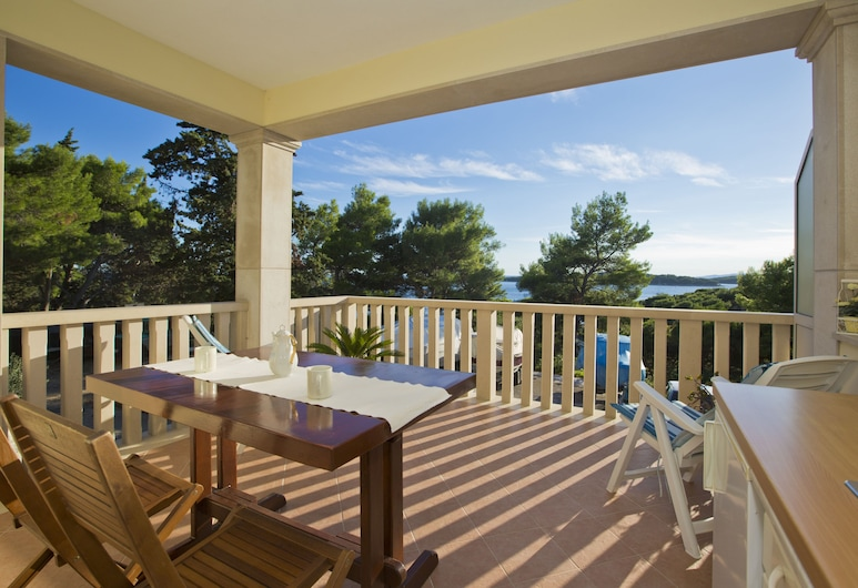 Villa Malisko, Hvar, Studio, Uitzicht op zee, Balkon