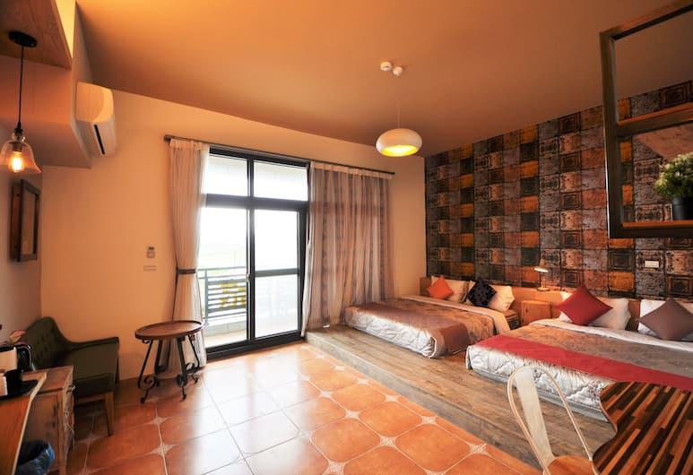 Time B&B, Hengchun, Čtyřlůžkový pokoj, balkon, Pokoj