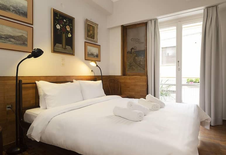 Vintage Apartment next to Acropolis Museum, Atėnai, Apartamentai, 1 miegamasis, vaizdas į miestą, Kambarys