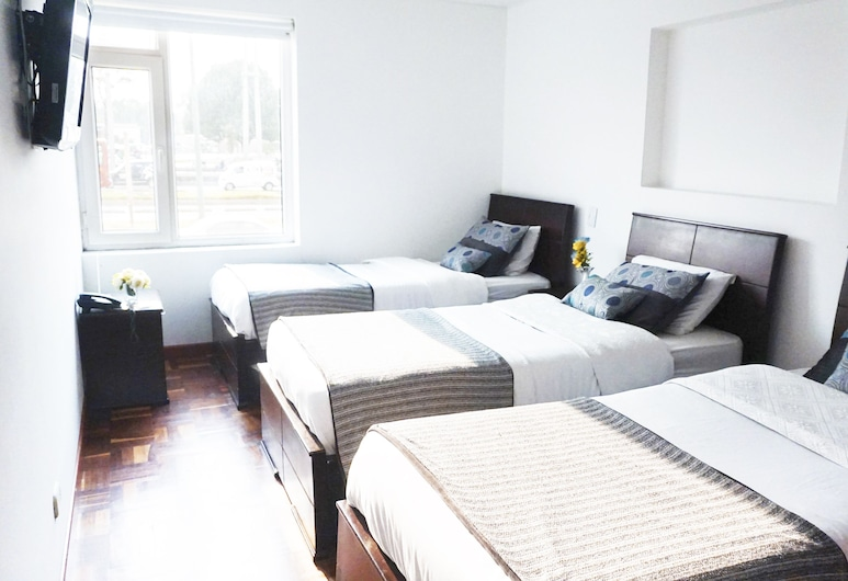 Hotel Arena Plaza, Bogotá, Standard Triple Room, 3 Twin Beds, Guest Room