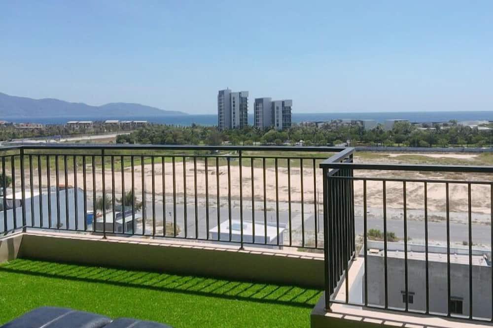 Gemeinsamer Panoramic-Schlafsaal, Strandblick - Terrasse/Patio