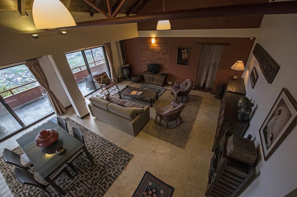 Superior Penthouse, 1 Bedroom, Valley View, Garden Area - Living Room