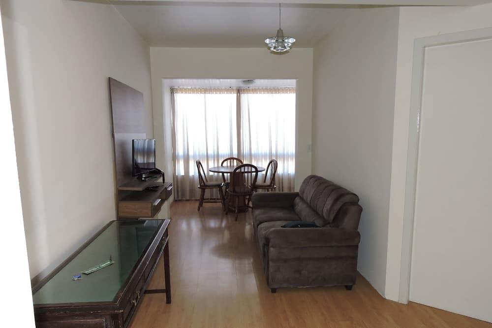 Comfort appartement, 1 tweepersoonsbed, uitzicht op park - Woonruimte