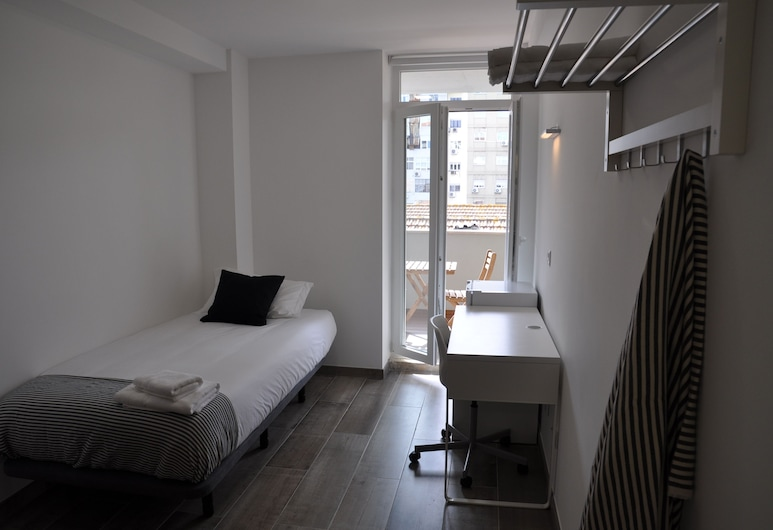My Home In The City, Lisabona, Pagerinto tipo numeris, 1 viengulė lova, balkonas, vaizdas į miestą, Svečių kambarys