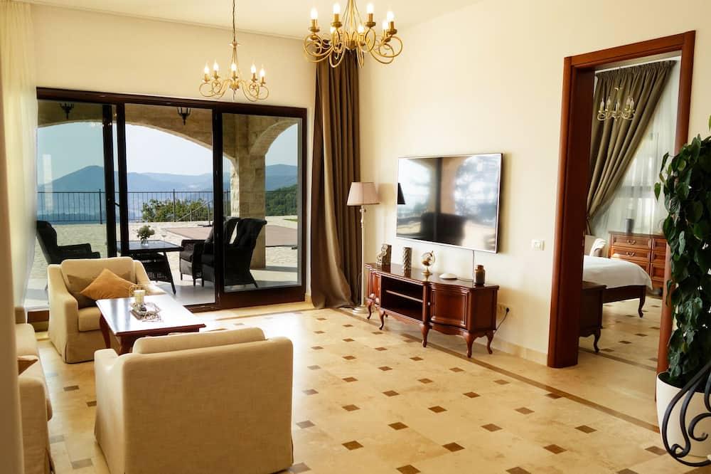 尊榮別墅, 3 間臥室, 私人泳池, 海景 - 客廳