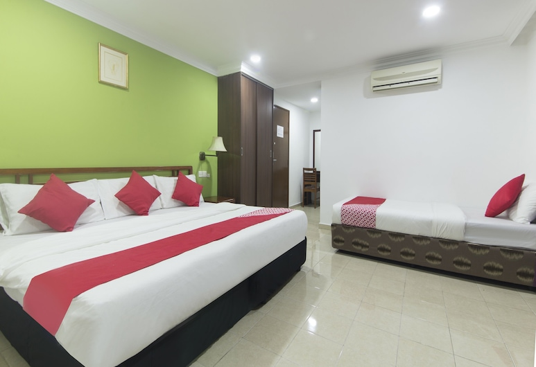 OYO 805 Hotel Run Star, Kuala Lumpur, Family Suite, 2 Double Beds, Guest Room