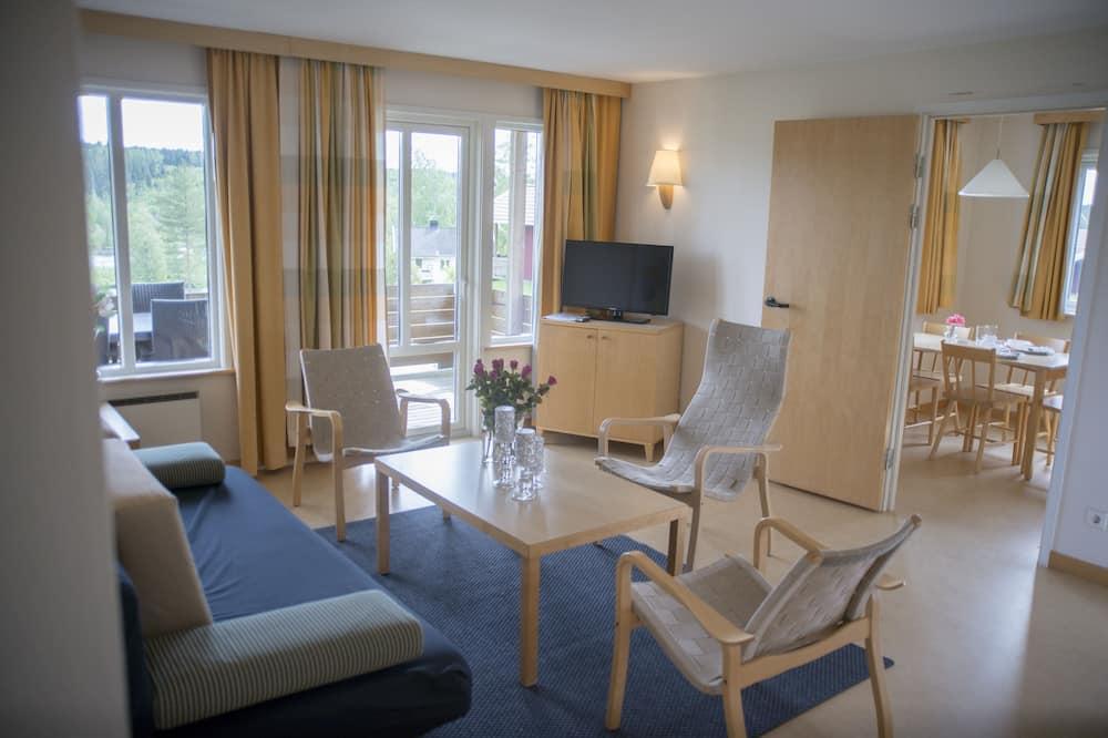 Rekreační domek, výhled na letovisko (Solbo) - Obývací pokoj