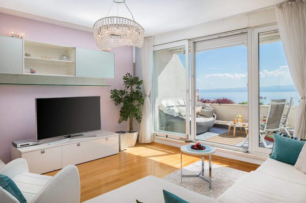 Obiteljski apartman, pogled na more - Dnevna soba
