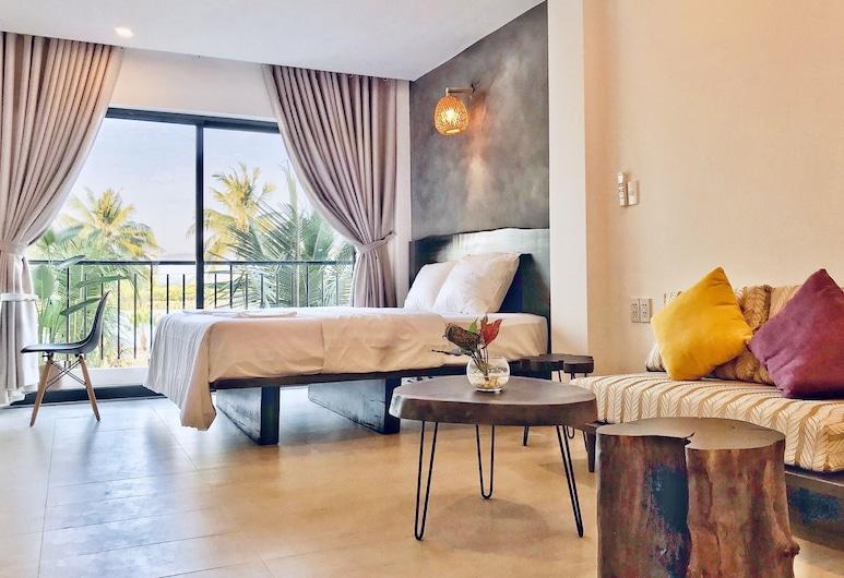 Klaus Resort, Nha Trang, Apartmán typu Deluxe, 1 extra veľké dvojlôžko, balkón, výhľad na rieku, Hosťovská izba