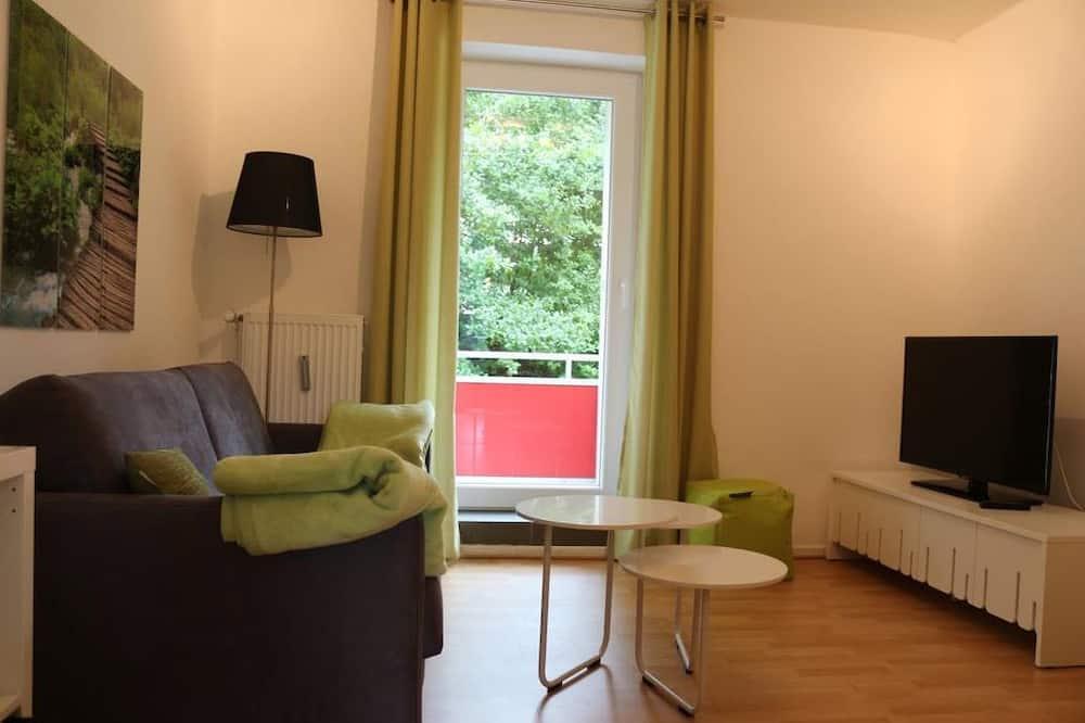شقة - غرفة نوم واحدة - بشرفة (Frieda) - منطقة المعيشة