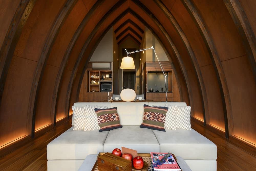 Villa de lujo, 1 habitación (Choice of 2 Double beds or 1 King bed) - Sala de estar