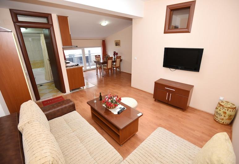 Darni Central Apartments, Ohrid, Апартаменты «Классик» (1), Зона гостиной