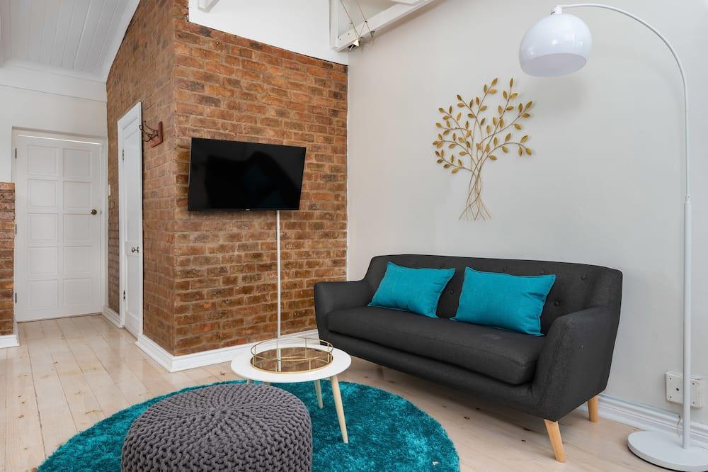 Studio tiện nghi đơn giản, Quang cảnh thành phố - Khu phòng khách