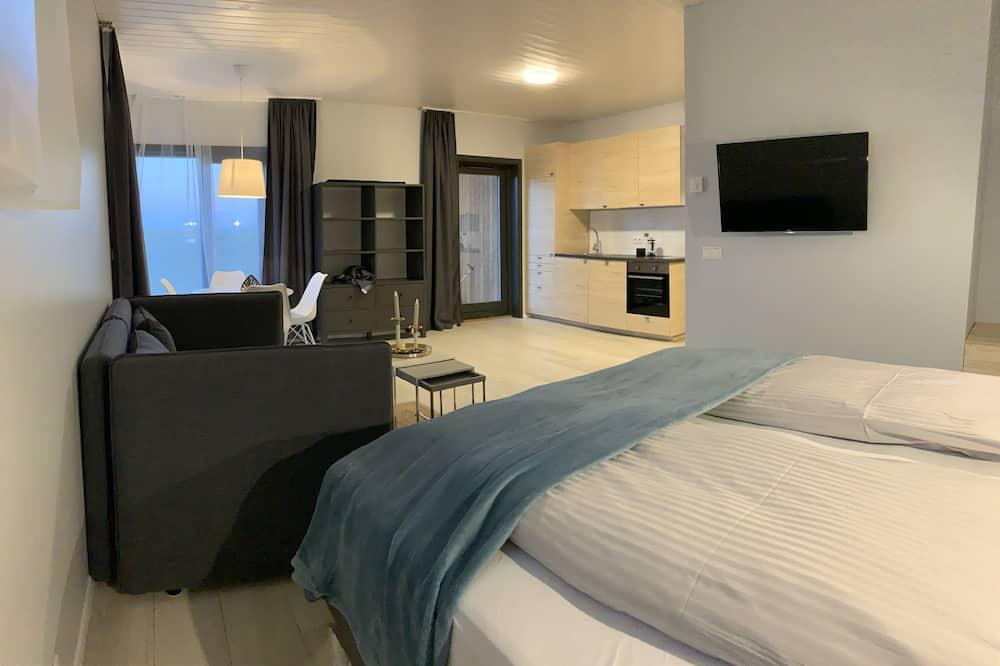 Cabin cơ bản, 1 giường đôi và sofa giường - Phòng khách