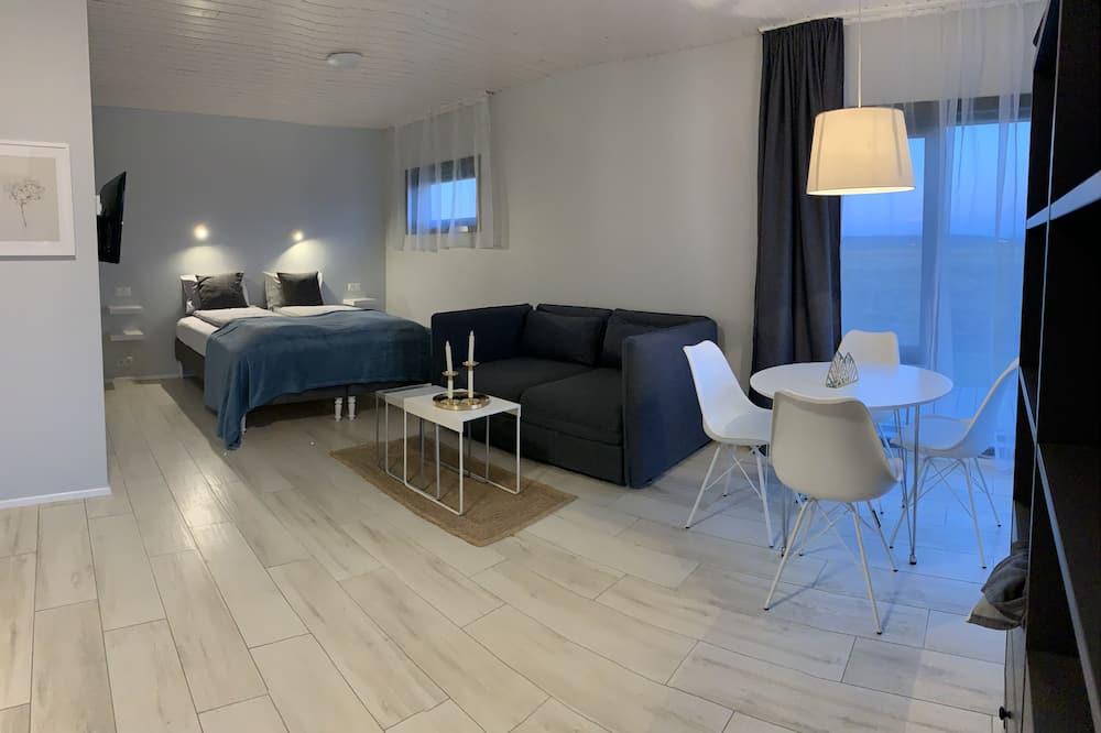 Cabin cơ bản, 1 giường đôi và sofa giường - Khu phòng khách
