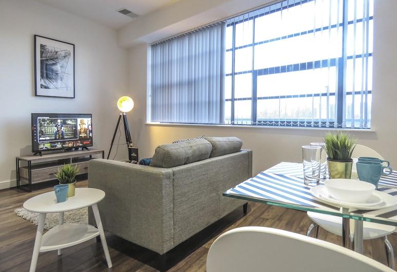 Tudors eSuites Birmingham Apartments Jewellery Quarter, Birmingham, Appartement Affaires, 1 lit double, Coin séjour