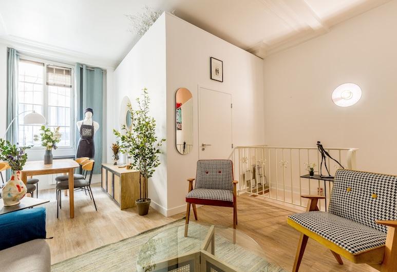 Edgar Suites Paris - Saint-augustin, Παρίσι, Premium Διαμέρισμα, Μπάνιο στο δωμάτιο (Saint Augustin), Lounge