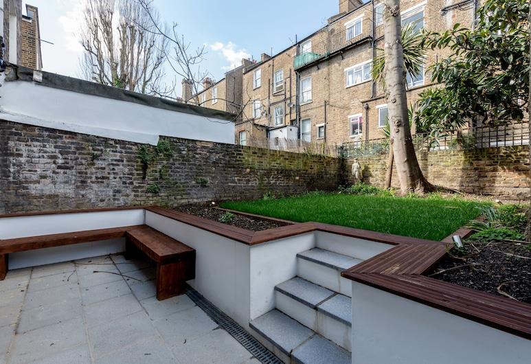 Stylish 2bed 2bath in Notting Hill, London, Design-Apartment, 2Doppelbetten, 2 Bäder, zum Garten hin, Terrasse/Patio