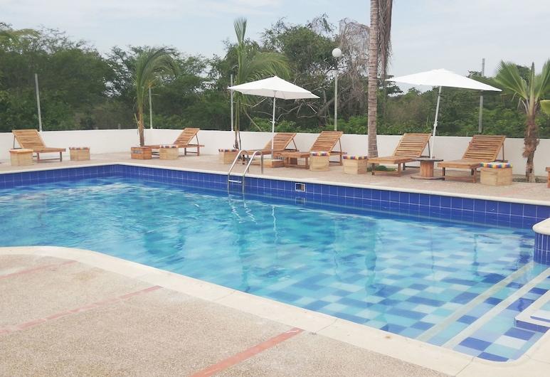 Urantia Planet Hostel, Cartagena, Außenpool