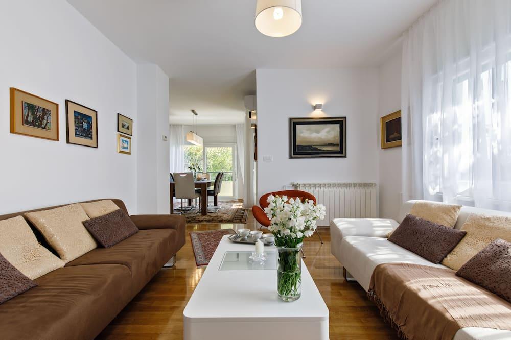 Appartement, 3 slaapkamers, gedeeltelijk uitzicht op oceaan - Woonruimte
