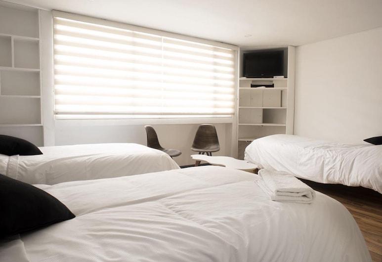 CASA HOTEL ALPES BOGOTA POLO CLUB, Bogotá, Chambre Triple, 3 lits une place, Chambre