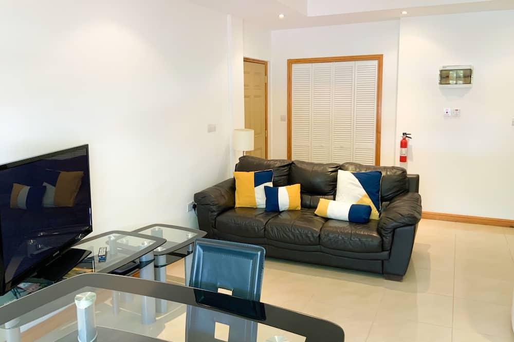 Apartmán typu Junior, 1 veľké dvojlôžko, výhľad na mesto - Obývacie priestory