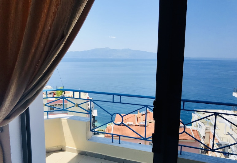Blue Heaven Hotel, Sarandë, Triple Room, Balcony, Sea View, Guest Room