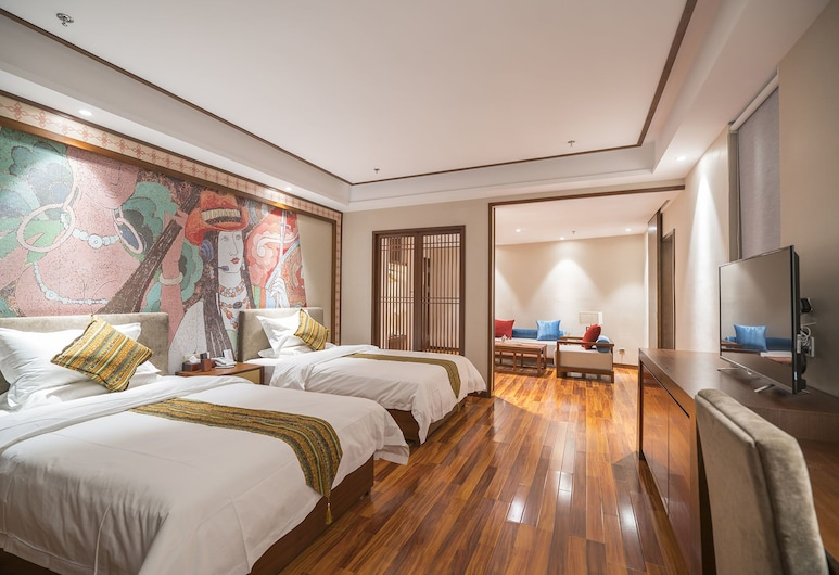 Yunman Hotel Shangrila, Deqin, Dvojlôžková izba typu Deluxe, Hosťovská izba