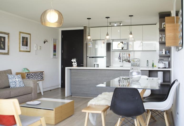 Loica Suites, Santiago, Lägenhet Basic - flera sängar, Rum