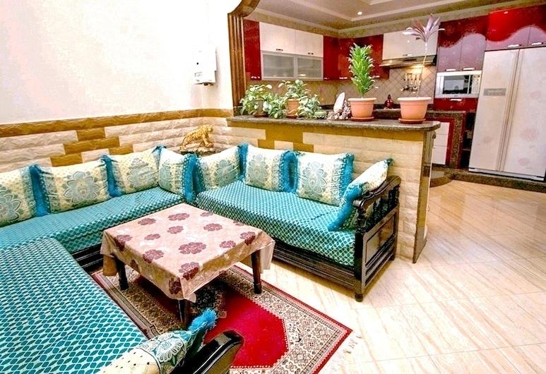 阿加迪爾 1 房公寓飯店 - 附設備完善花園和無線上網 - 離海灘 6 公里, 迪瑟利亞吉赫迪阿, 客廳