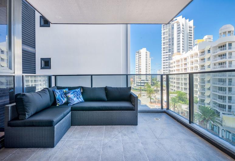 Experience Resort Style Living With Free Parking, Broadbeach, Departamento Deluxe, 2 habitaciones, Balcón