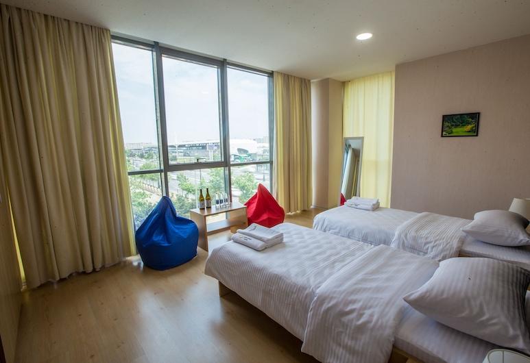 Caspian Sport Hotel, Baku, Standaard kamer, 1 twee- of 2 eenpersoonsbedden, privébadkamer, Woonruimte