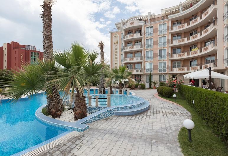 Two Bedroom Apartment, Terrace in Aphrodite Palace, Sunny Beach, Apgyvendinimo įstaigos fasadas