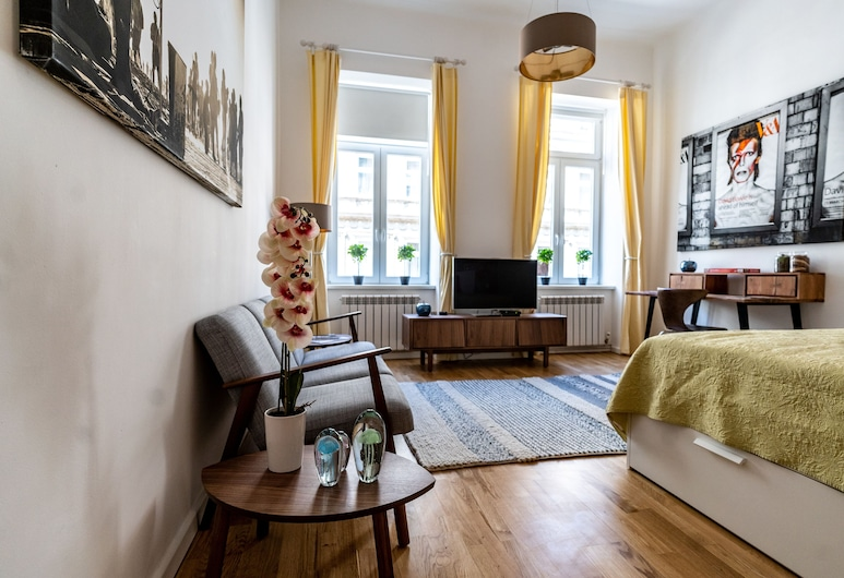 Boutique Prater Apartment Vienna, Viena, Apartamento design, Quarto