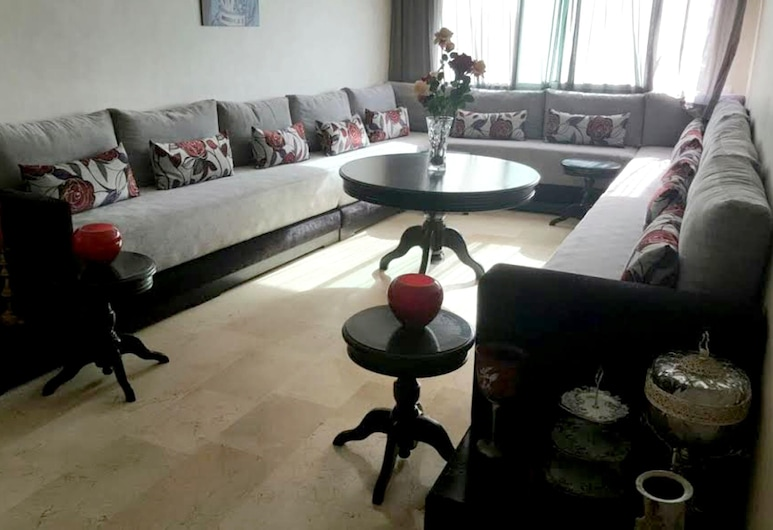 Apartment With 2 Bedrooms in Casablanca, With Wonderful sea View and Wifi, Mohammedia, Sala de estar