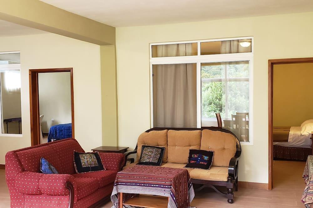 Deluxe Apart Daire, 2 Yatak Odası, Sigara İçilmez, Dağ Manzaralı - Oturma Odası