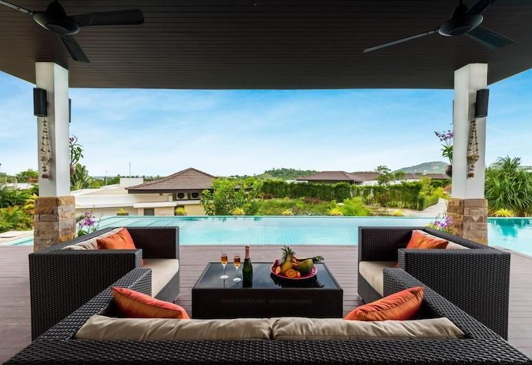 泳池別墅 5 房 TS1 度假村, 華欣, 5-Bedroom Villa with Private Pool, 陽台