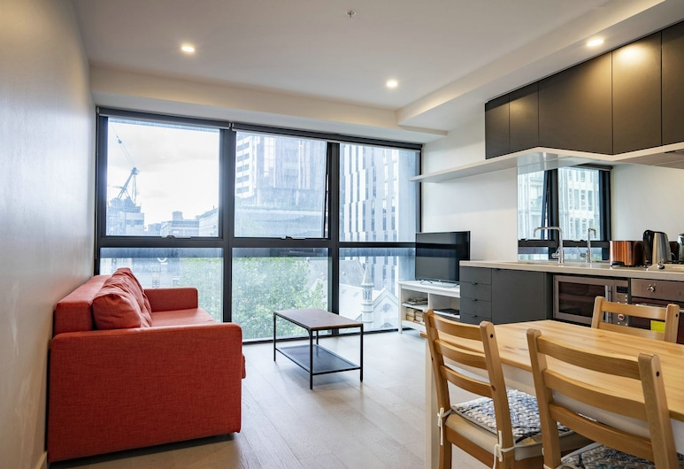 WeMeet@Melbourne Center, Melbourne, City Apartment 3, 2 Bedrooms, City View, Living Area