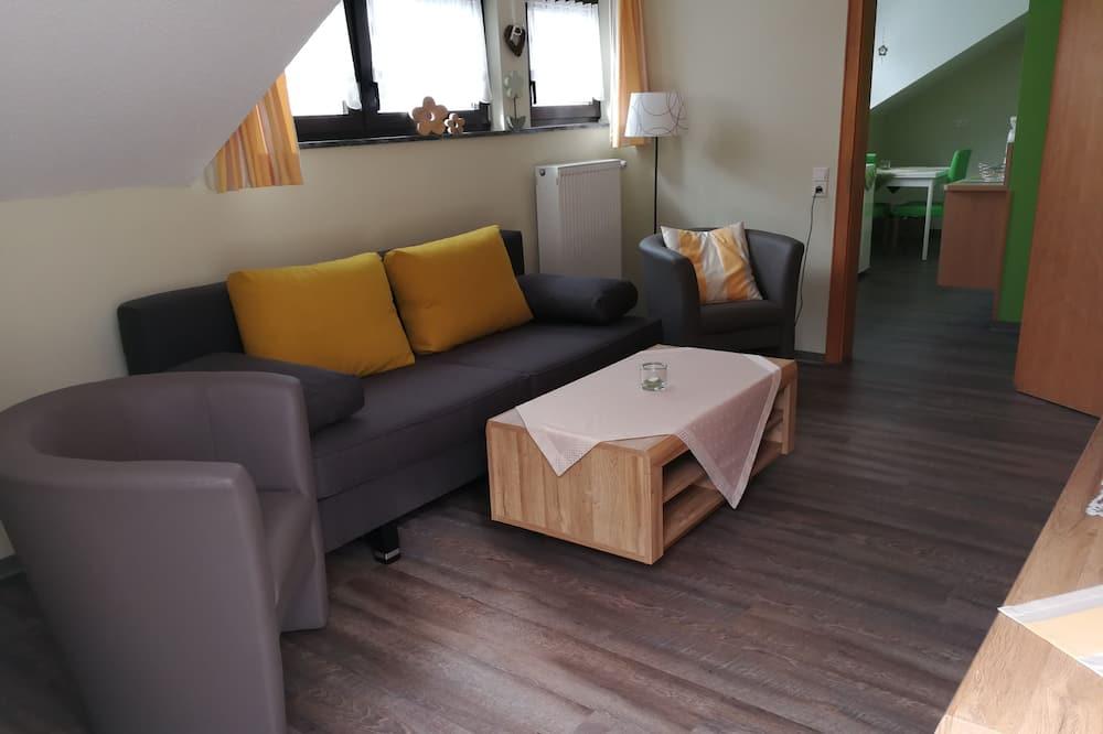 Leilighet, 1 soverom, terrasse - Oppholdsområde