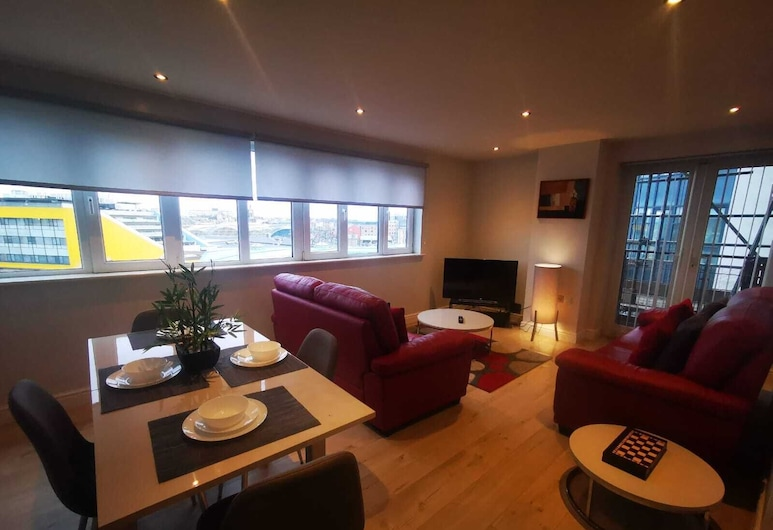 AA Riverside, Newcastle-upon-Tyne, Apartament, prywatna łazienka (Sleeps 5), Salon