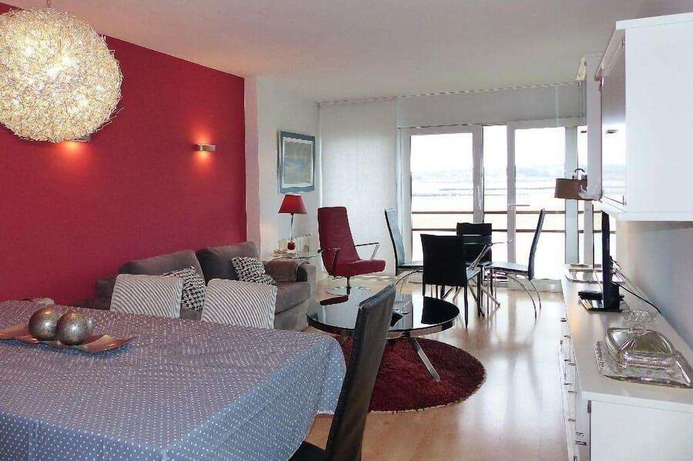 Departamento, 1 habitación, vista a la playa - Sala de estar