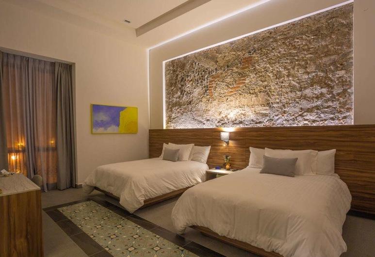 Hotel Casa de la Audiencia, Atlixco, Junior Τετράκλινο Δωμάτιο, Θέα στο Πάρκο, Δωμάτιο επισκεπτών