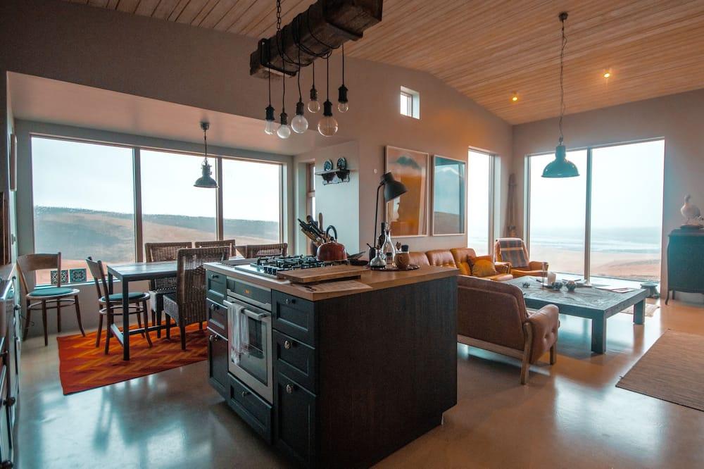 Apartmán typu Deluxe, 2 spálne, výhľad do údolia - Obývacie priestory