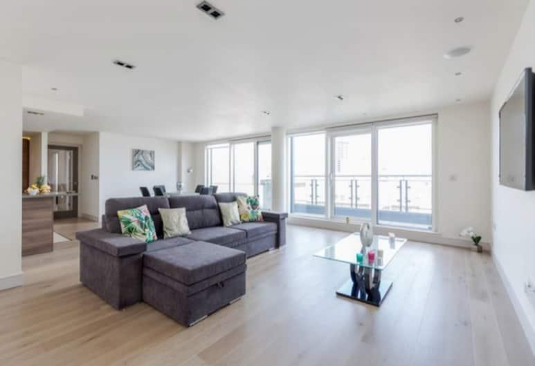 Chelsea Apartment, London, Apartment, 3Schlafzimmer, Terrasse, Wohnbereich