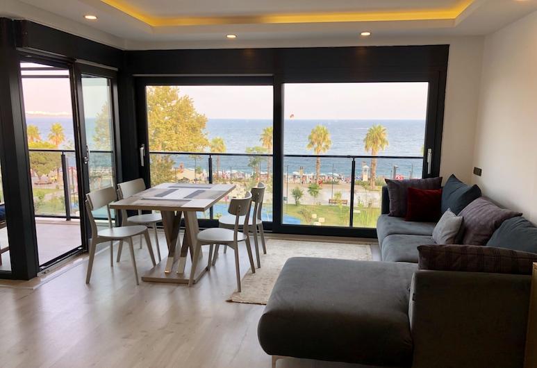 ONLY ONE Suites&Residence, Konyaaltı, Panoramic-Apartment, 1 Schlafzimmer, Meerblick, Zimmer