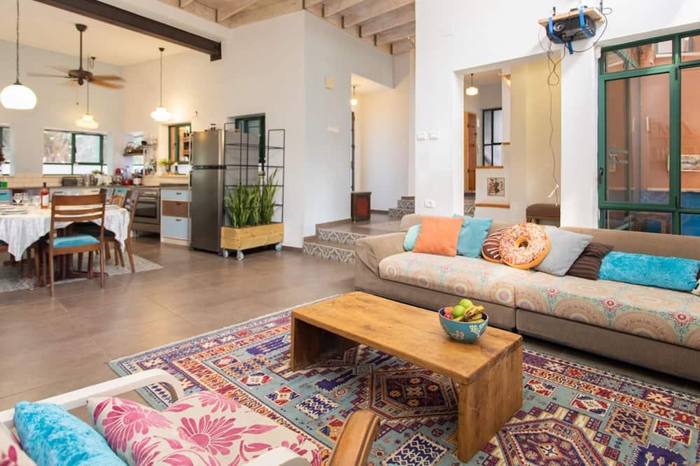 Villa Confort, 4 habitaciones, vista al jardín - Sala de estar