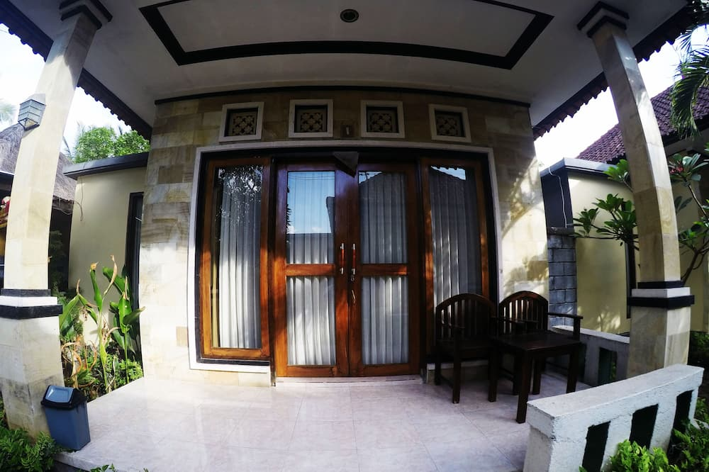 Bungalow – comfort, 1 kingsize-seng, hageområde - Balkongutsikt